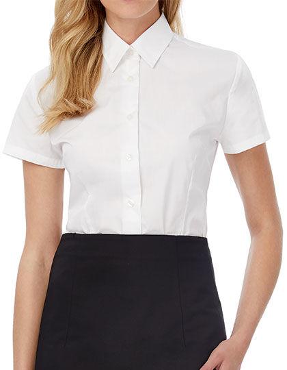 Poplin Shirt Smart Short Sleeve / Women | B&C