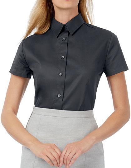 Twill Shirt Sharp Short Sleeve / Women | B&C