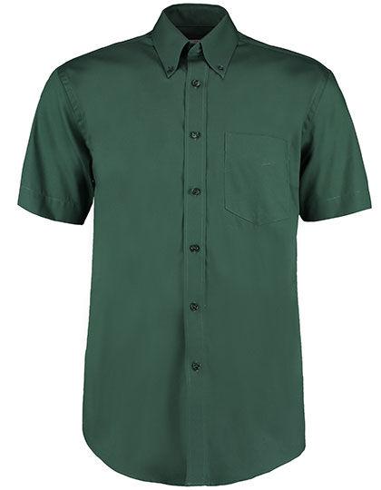 Mens Corporate Oxford Shirt Short Sleeve   Kustom Kit