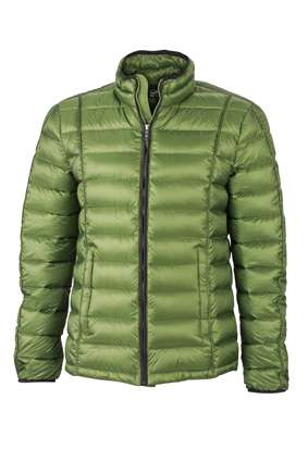 Mens Quilted Down Jacket | James & Nicholson
