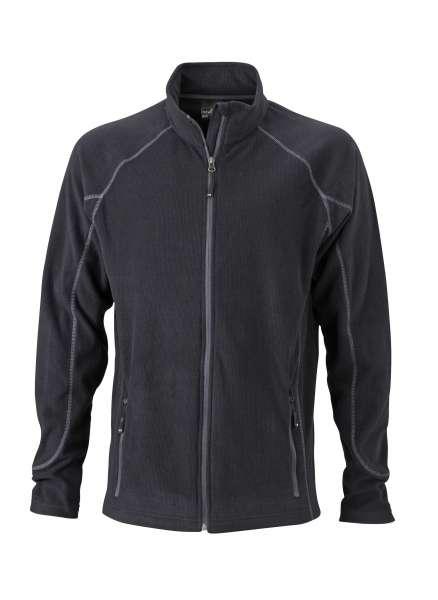 Men´s Structure Fleece Jacket | James & Nicholson