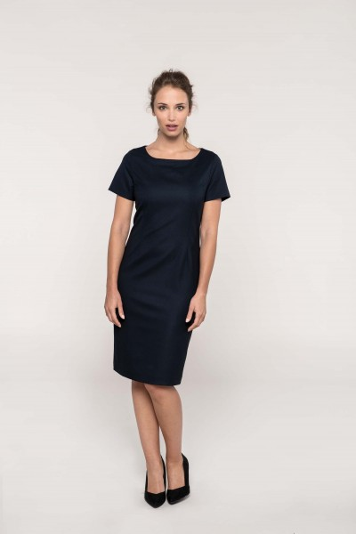 Kleid mit kurzen Ärmeln | Kariban