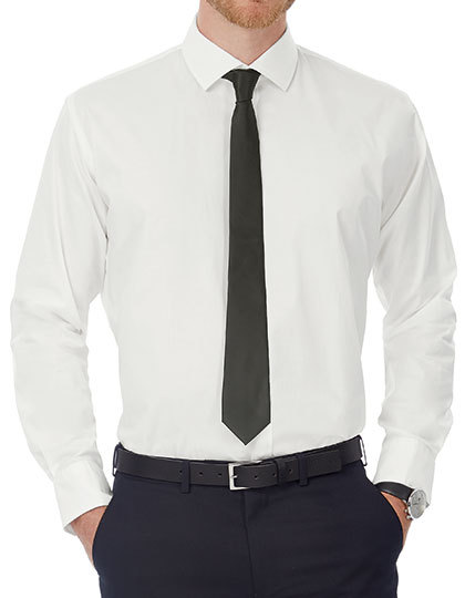 Poplin Shirt Black Tie Long Sleeve / Men | B&C