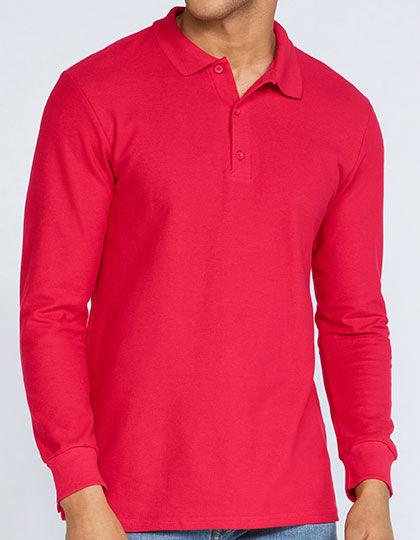 Premium Cotton® Long Sleeve Double Piqué Polo | Gildan