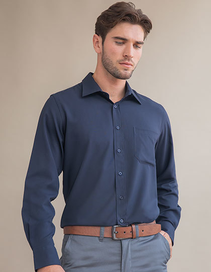 Men´s Wicking Long Sleeve Shirt   Henbury