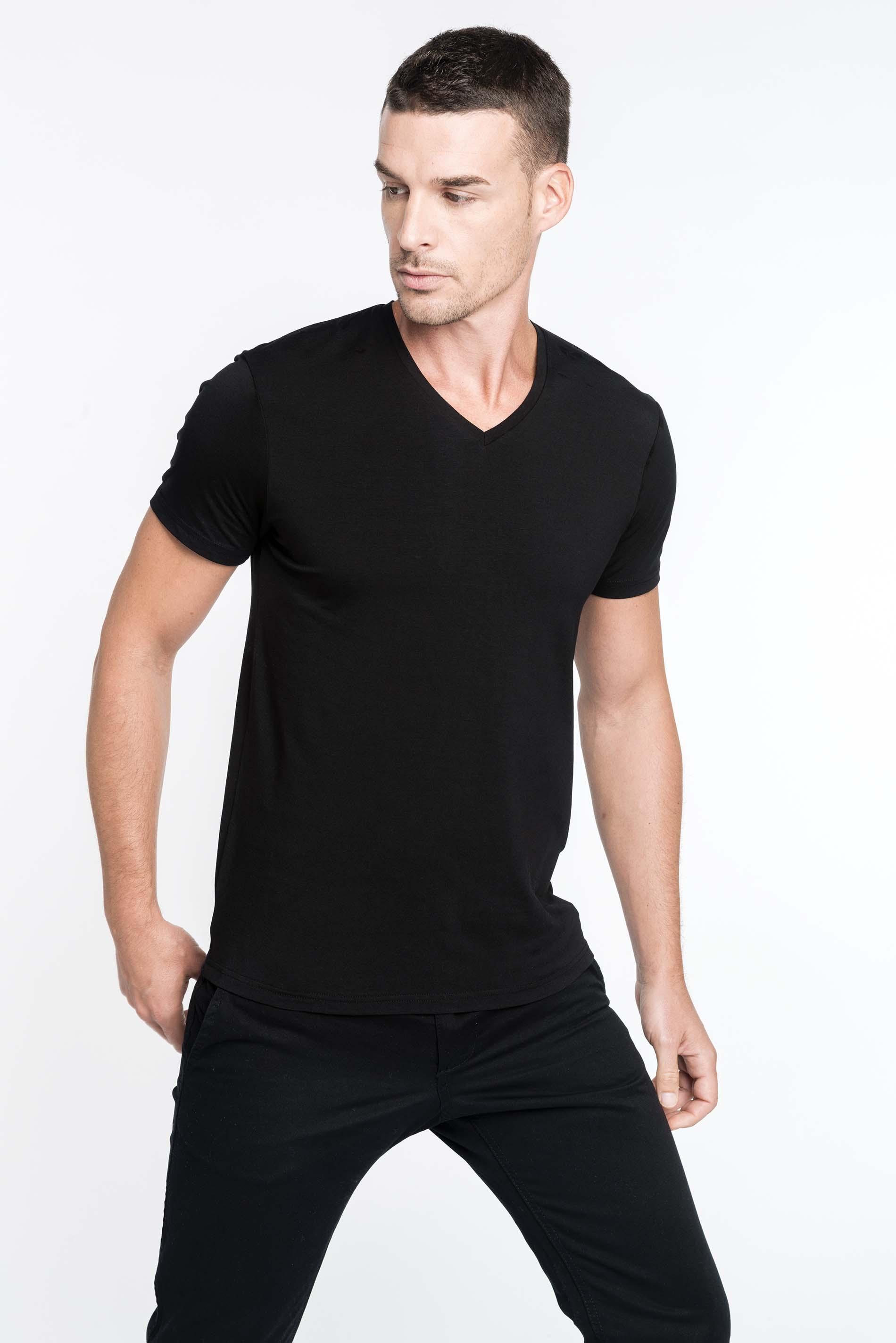 kariban calypso herren t shirt v ausschnitt g nstig. Black Bedroom Furniture Sets. Home Design Ideas